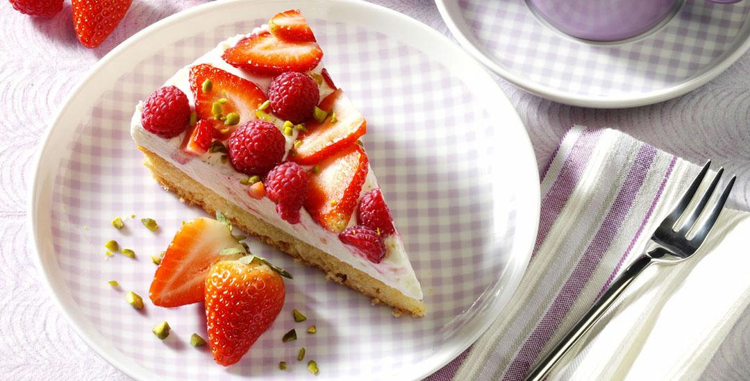 Erdbeer-Himbeertorte