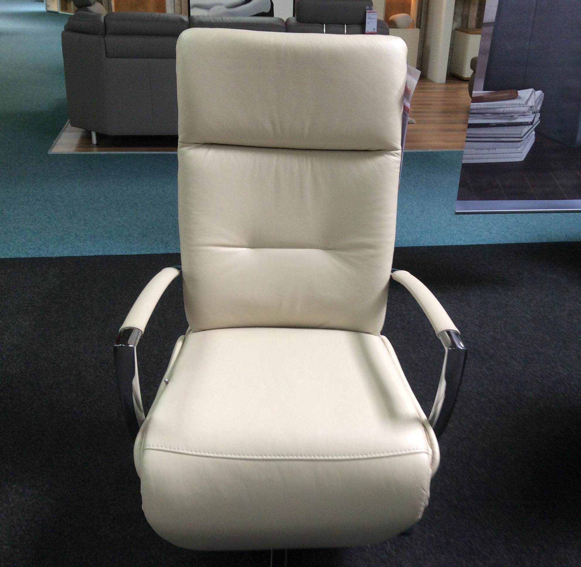 Echt-Leder Relax-Sessel seidengrau 452036
